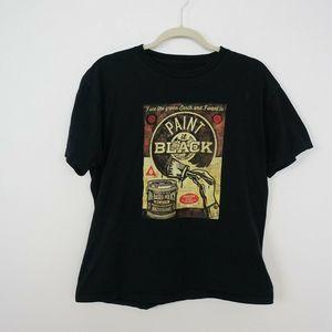 Obey T-Shirt Paint it Black